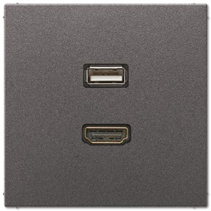 Jung Gniazdo multimedialne: HDMI + USB - Antracyt - MAAL1163AN
