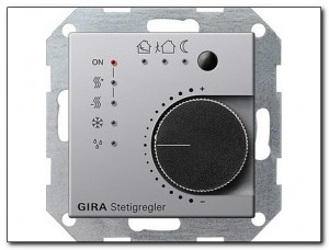 Gira Regulator KNX Gira E22 aluminium 2100203