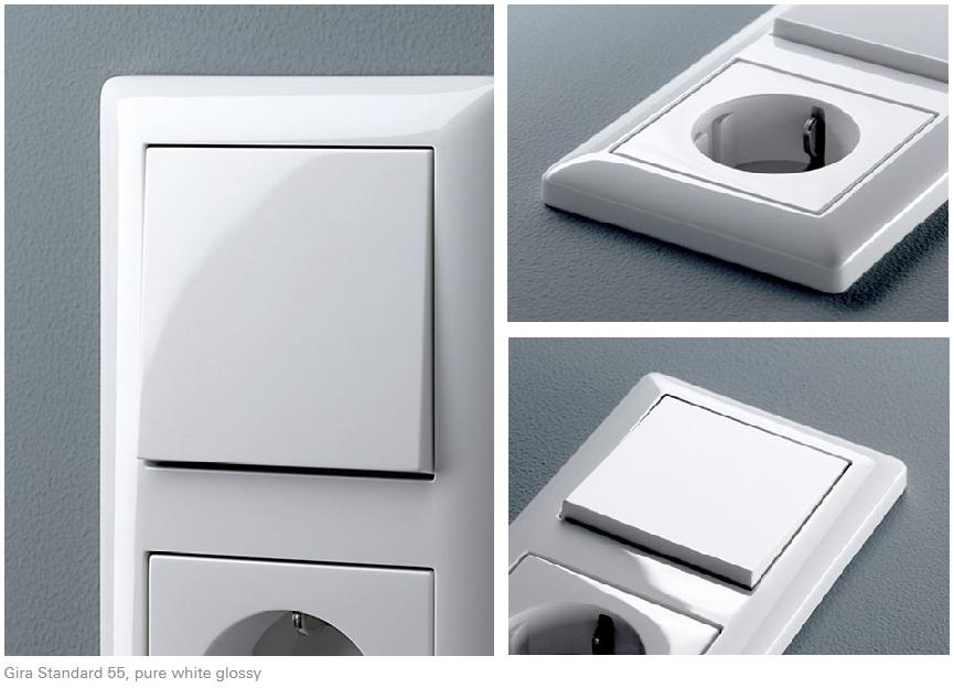 gira ramka pojedyncza standard 55 bia a 021103 sklep elektryczny elsklep. Black Bedroom Furniture Sets. Home Design Ideas