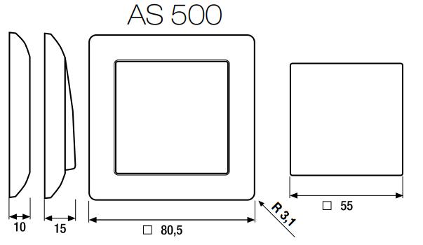 jung przycisk as 500 podw jny standardowy bia y elsklep. Black Bedroom Furniture Sets. Home Design Ideas
